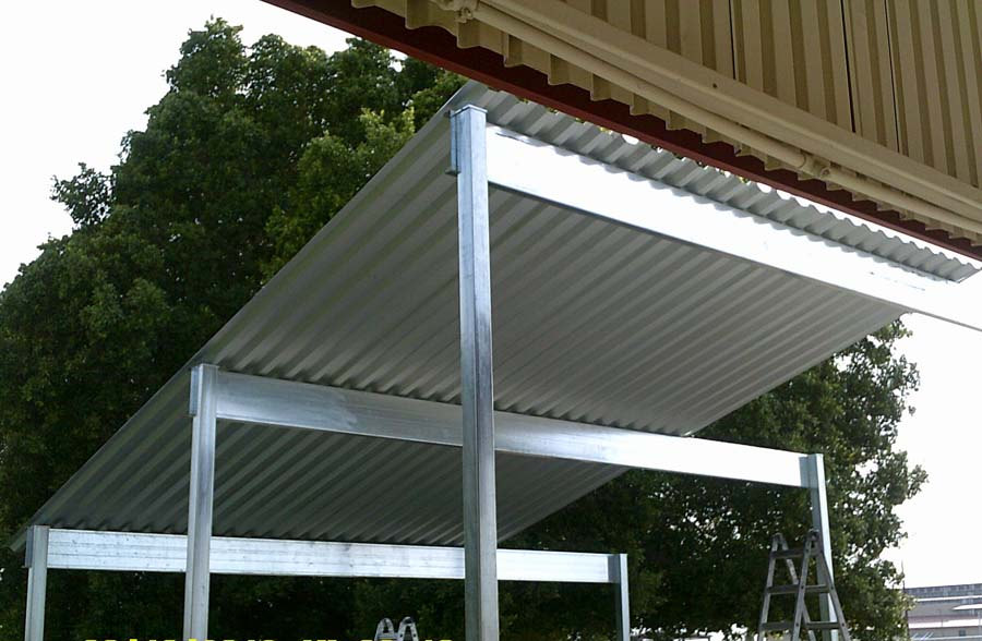 Metal structures gallery ultimate shade alternatives for Steel shade structure design